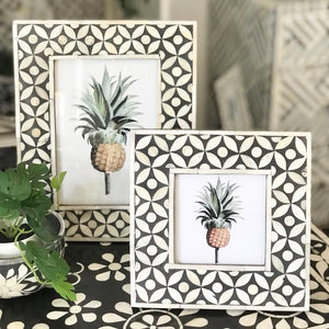 Geo Pattern Photo Frame - Black