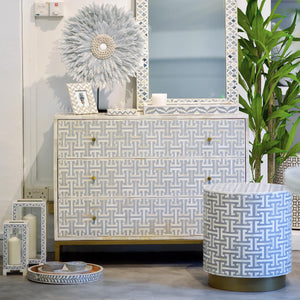 Grey Hacienda Pattern - 3 Drawer Chest