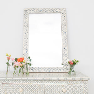Mother of Pearl Leaf Pattern Mirror