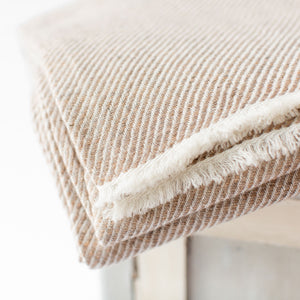 Cashmere Throw - Tawny Stripe