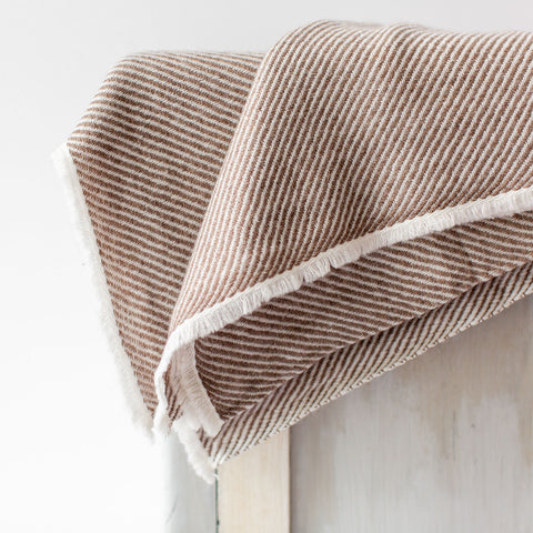 Cashmere Throw - Chocolate Stripe