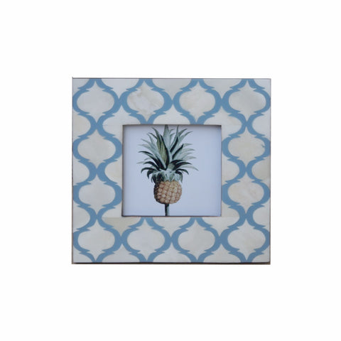 Mogul Pattern Photo Frame - Pale Blue