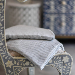 Cashmere Throw - Taupe Stripe