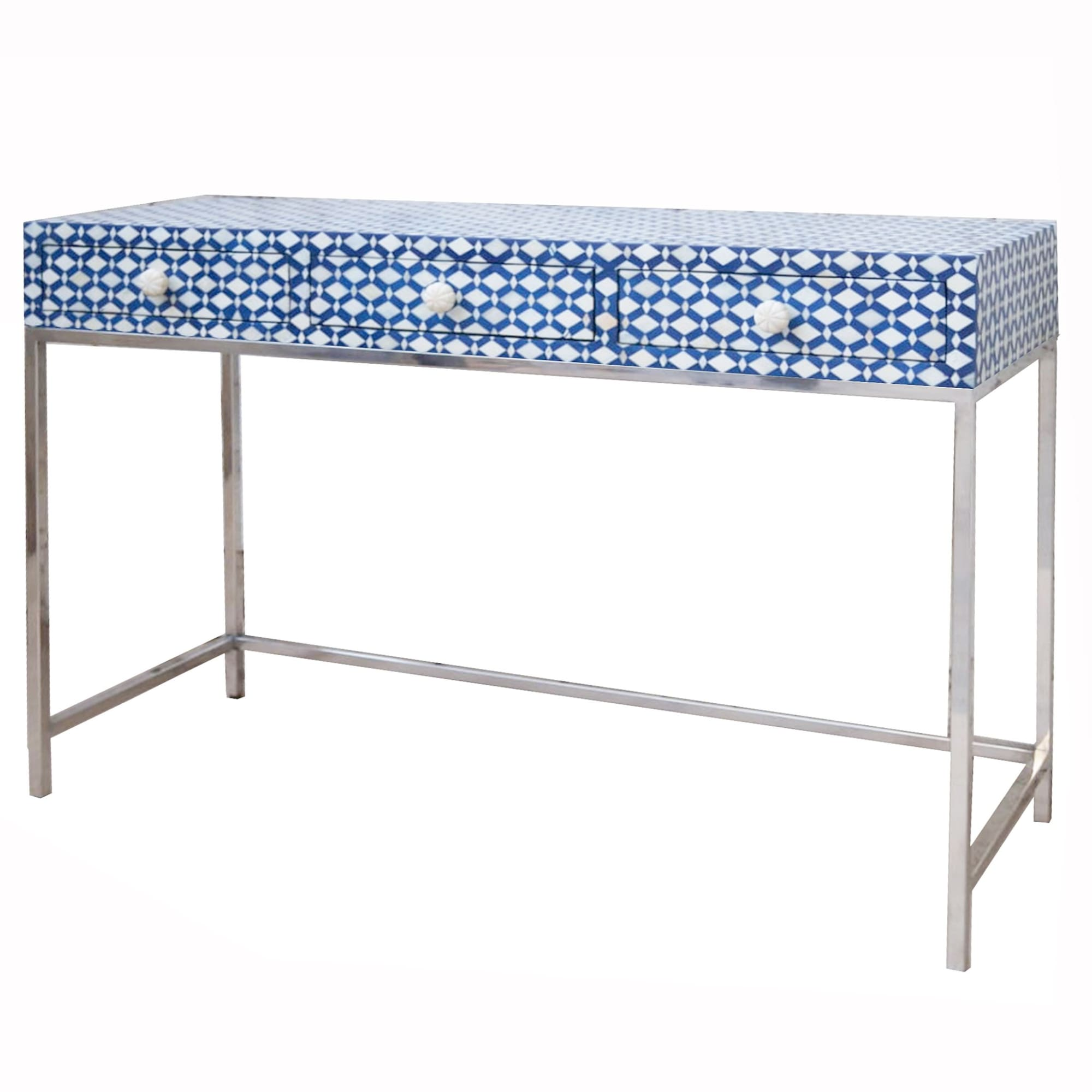 Diamond Pattern Console - Navy Blue - Desks & Consoles