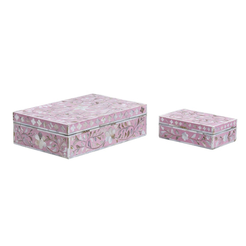 Dusty Pink Leaf Pattern - Boxes