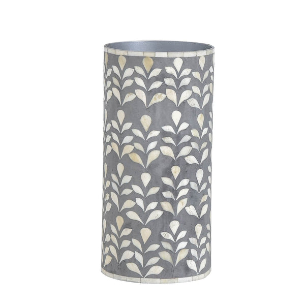 Floral Vase Collection - Small / Bone Inlay Grey - Vases