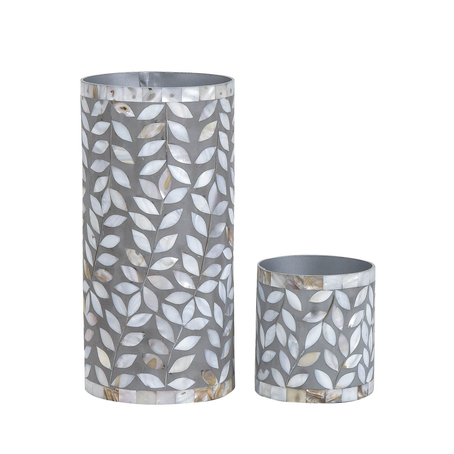 Floral Vase Collection - Small / Mother of Pearl Grey - Vases