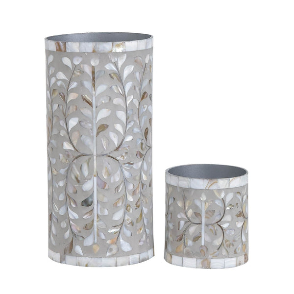 Floral Vase Collection - Small / Mother of Pearl Light Grey - Vases