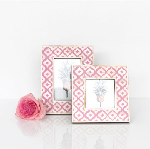 Pink Moroccan Pattern Photo Frame