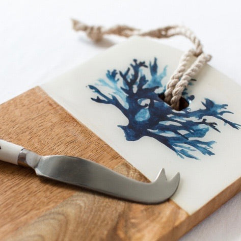 Coral Cheese Board & Knife