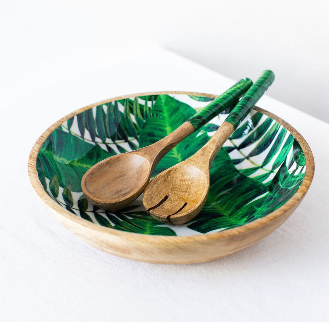 Palm Leaf Salad Bowl - Medium