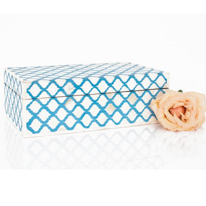 Cornflower Blue Mughal Pattern Box