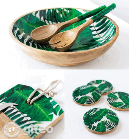 Palm Leaf Salad Bowl - Large