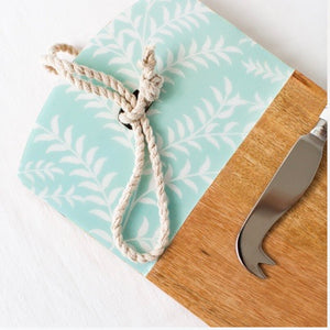 Fern Leaf Cheese Board & Knife