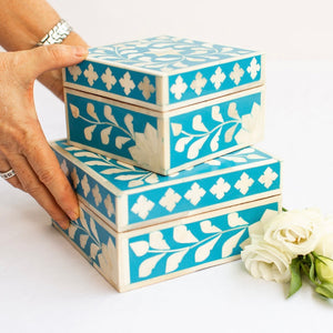 Blue Leaf Pattern Box