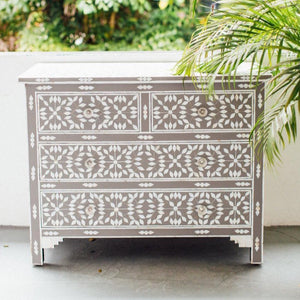 Mother of Pearl Grey Nest Pattern Chest