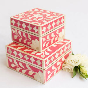 Pink Leaf Pattern Box