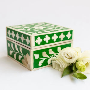 Emerald Leaf Pattern Box