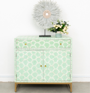 Sage Sol Pattern - One Drawer with Cupboards