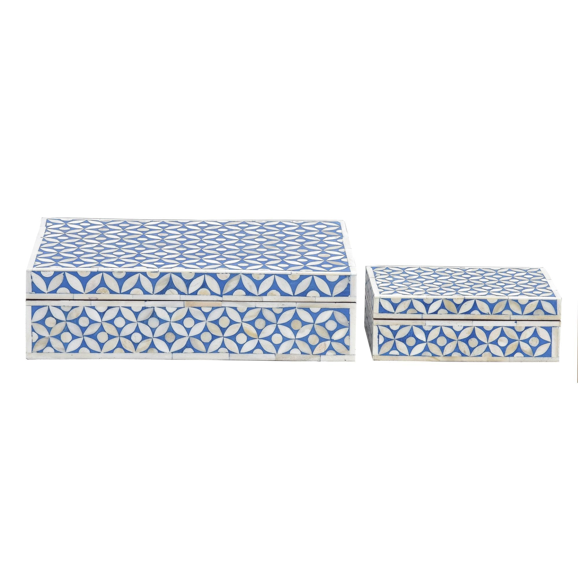 Indigo Blue Geometric - Boxes