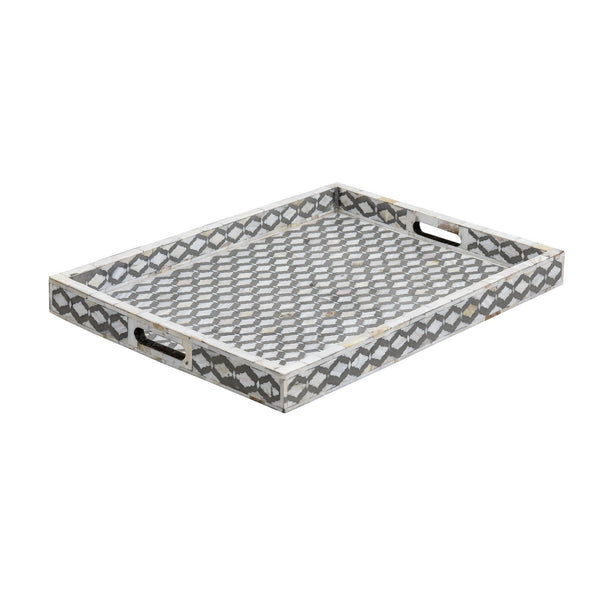 Mughal Pattern Collection - Grey Mother of Pearl / Medium - Trays