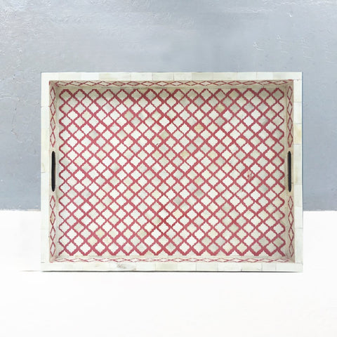 Mughal Pattern Collection - Red / Medium - Trays