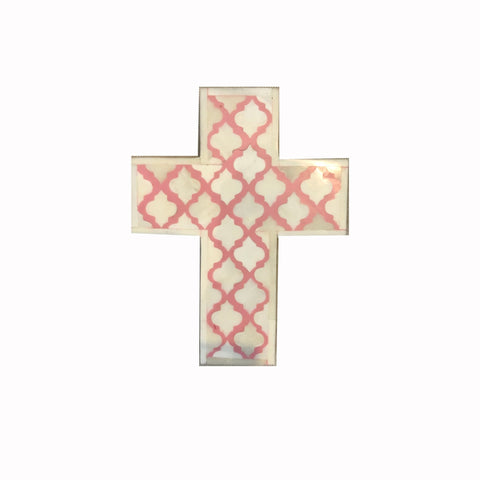 Mughal Pattern Pink Cross - Crosses