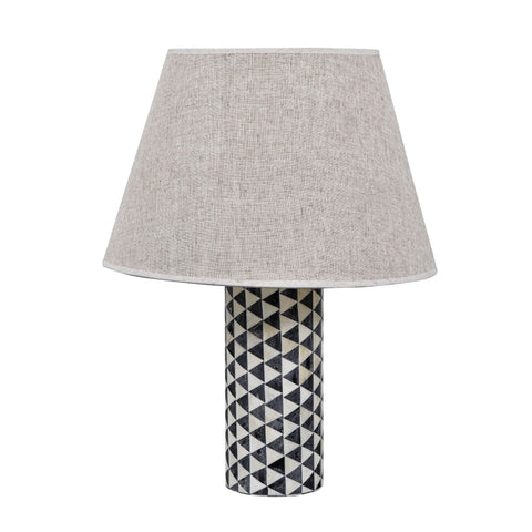Patterned Bone Inlay Table Lamp - Table Lamps