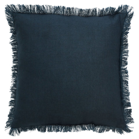 Porter Fringe Cushion Navy - Cushion