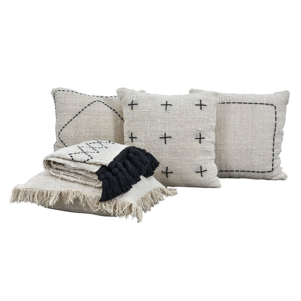Woven Range Cushions - White - Cushion