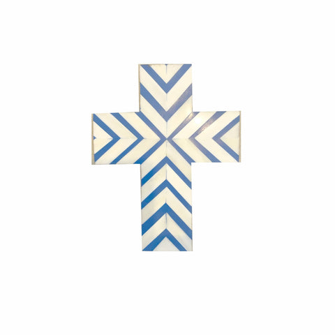 ZigZag Pattern Navy Cross - Crosses