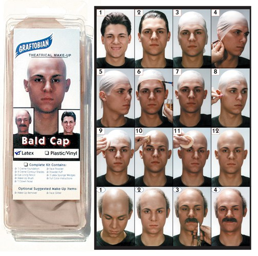 Graftobian Bald Cap Instructions (No Bald Cap Included)