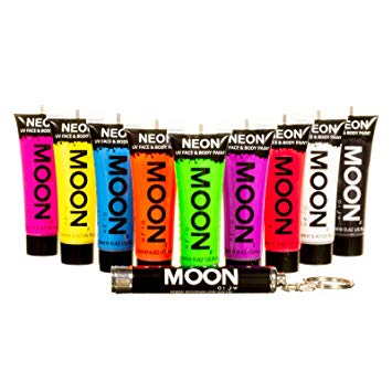 Moon Glow UV Neon Paint (With Free UV Keyring)