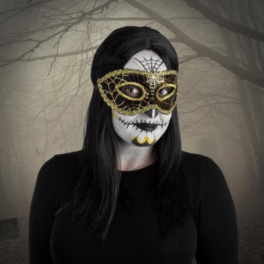 Fright Nite Masquerade Mask (Assorted Colours)