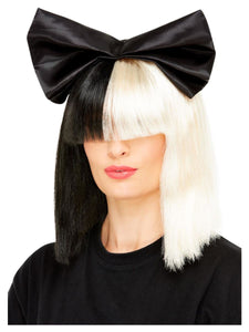 Smiffy Wig - Black & White Bow