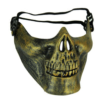 Load image into Gallery viewer, Fright Nite Half Face Skeleton Mask