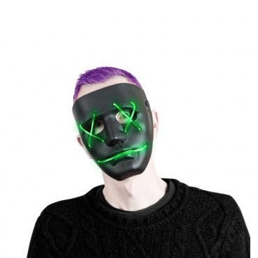 LED Light Up Mask (Green or Blue)