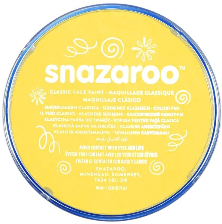 Snazaroo Classic Colours Bright Yellow 18ml