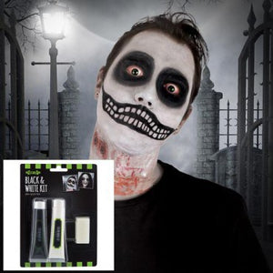 Fright Nite Black & White Makeup Kit