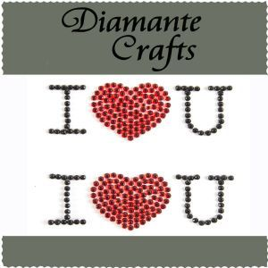 Diamante Crafts - I LOVE YOU