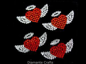 Diamante Crafts - Angels Heart