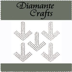 Diamante Crafts - Arrows Clear