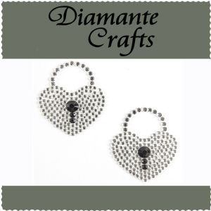 Diamante Crafts - Heart Padlock