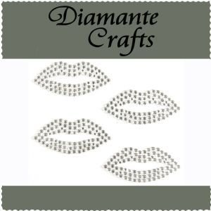 Diamante Crafts- Clear Lips
