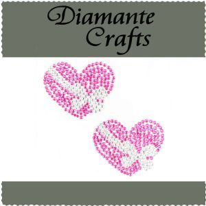 Diamante Crafts - Pink and Clear Heart