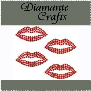 Diamante Crafts - Red Lips