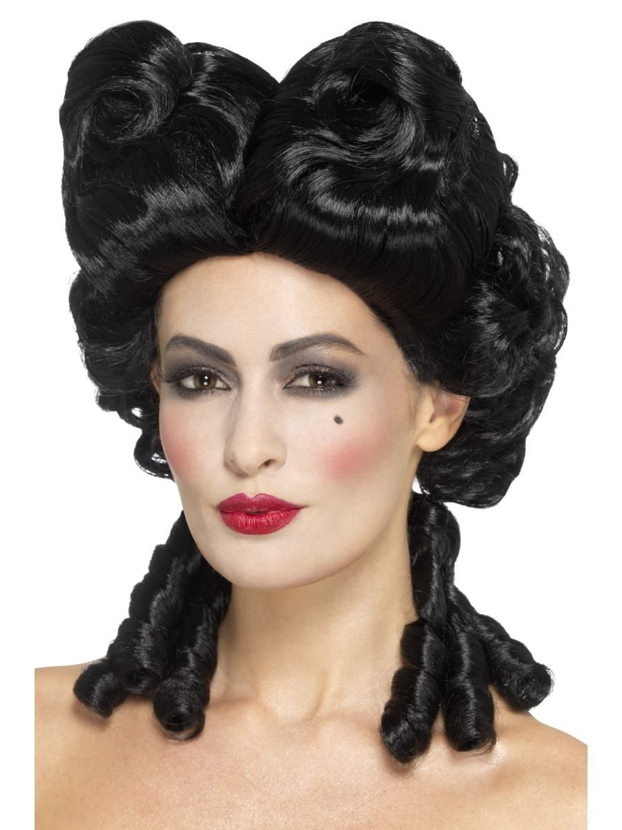 Smiffy Deluxe Baroque Wig - Black