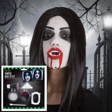 Fright Nite Vampire Make Up Kit With Blood