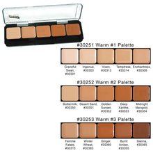 Load image into Gallery viewer, Graftobian HD Glam Creme Palette Warm #2