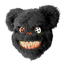 Load image into Gallery viewer, Fright Nite Horror Furry Teddy Bear Mask (Black or Brown)